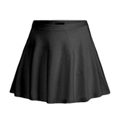 Leather Stitching Thread Perforation Perforated Leather Texture Mini Flare Skirt