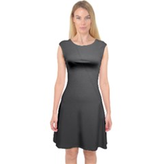 Leather Stitching Thread Perforation Perforated Leather Texture Capsleeve Midi Dress