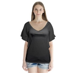 Leather Stitching Thread Perforation Perforated Leather Texture Flutter Sleeve Top