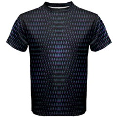 Hexagonal White Dark Mesh Men s Cotton Tee