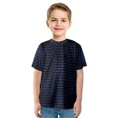 Hexagonal White Dark Mesh Kids  Sport Mesh Tee