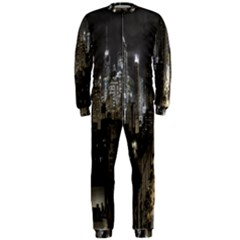 New York United States Of America Night Top View OnePiece Jumpsuit (Men)