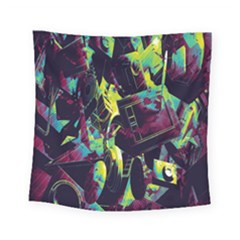 Items Headphones Camcorders Cameras Tablet Square Tapestry (small)