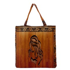 Pattern Shape Wood Background Texture Grocery Tote Bag