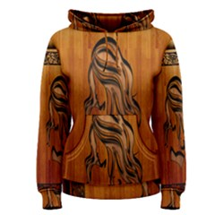 Pattern Shape Wood Background Texture Women s Pullover Hoodie