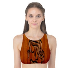 Pattern Shape Wood Background Texture Tank Bikini Top