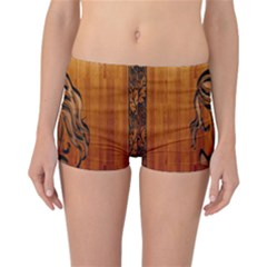Pattern Shape Wood Background Texture Reversible Bikini Bottoms