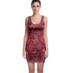 Leather Point Surface Sleeveless Bodycon Dress