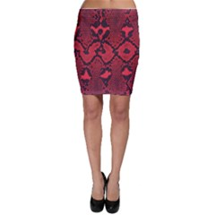 Leather Point Surface Bodycon Skirt