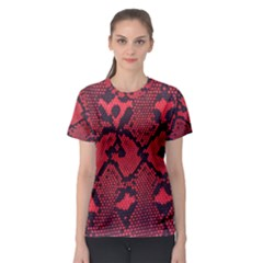 Leather Point Surface Women s Sport Mesh Tee
