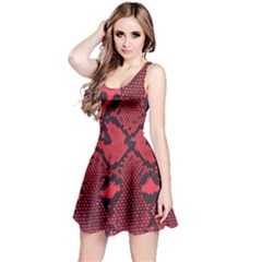 Leather Point Surface Reversible Sleeveless Dress