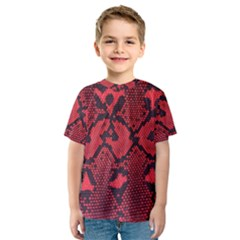 Leather Point Surface Kids  Sport Mesh Tee