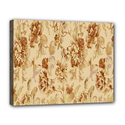 Patterns Flowers Petals Shape Background Canvas 14  X 11