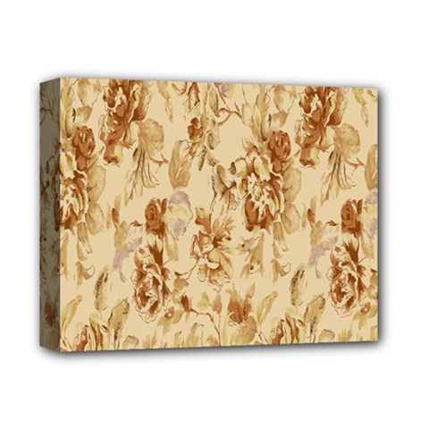 Patterns Flowers Petals Shape Background Deluxe Canvas 14  x 11