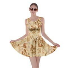 Patterns Flowers Petals Shape Background Skater Dress