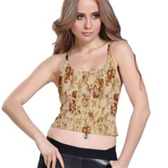 Patterns Flowers Petals Shape Background Spaghetti Strap Bra Top