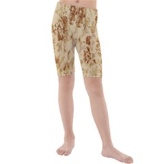 Patterns Flowers Petals Shape Background Kids  Mid Length Swim Shorts