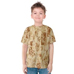Patterns Flowers Petals Shape Background Kids  Cotton Tee