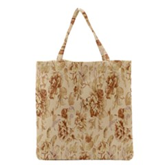 Patterns Flowers Petals Shape Background Grocery Tote Bag