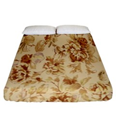 Patterns Flowers Petals Shape Background Fitted Sheet (king Size)