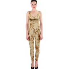 Patterns Flowers Petals Shape Background OnePiece Catsuit