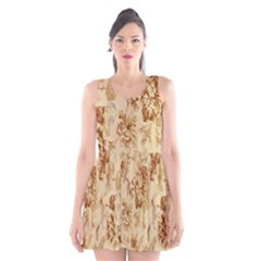Patterns Flowers Petals Shape Background Scoop Neck Skater Dress