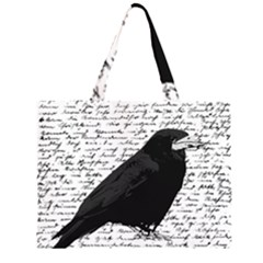 Black raven  Large Tote Bag