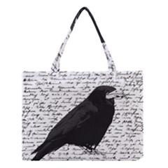 Black raven  Medium Tote Bag