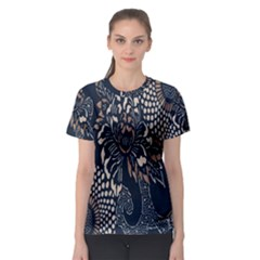 Patterns Dark Shape Surface Women s Sport Mesh Tee