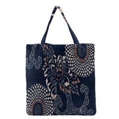 Patterns Dark Shape Surface Grocery Tote Bag