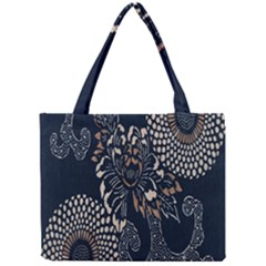Patterns Dark Shape Surface Mini Tote Bag