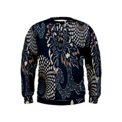 Patterns Dark Shape Surface Kids  Sweatshirt