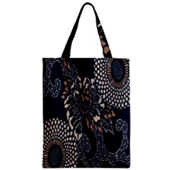 Patterns Dark Shape Surface Zipper Classic Tote Bag