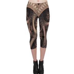 Patterns Dive Background Capri Leggings