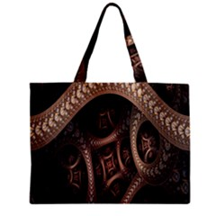 Patterns Dive Background Zipper Mini Tote Bag