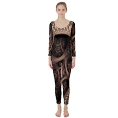 Patterns Dive Background Long Sleeve Catsuit