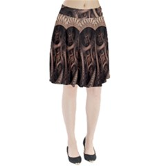 Patterns Dive Background Pleated Skirt