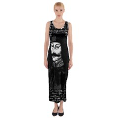 Count Vlad Dracula Fitted Maxi Dress