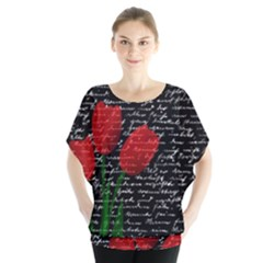 Red tulips Blouse