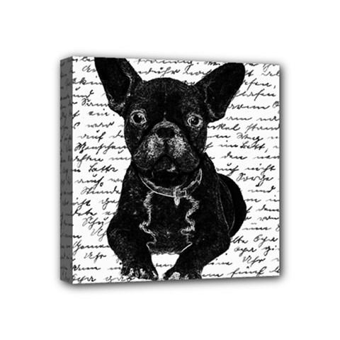 Cute bulldog Mini Canvas 4  x 4