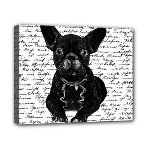 Cute bulldog Canvas 10  x 8