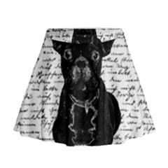 Cute bulldog Mini Flare Skirt
