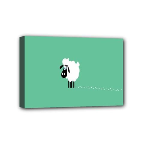 Sheep Trails Curly Minimalism Mini Canvas 6  x 4