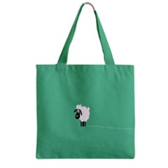 Sheep Trails Curly Minimalism Grocery Tote Bag
