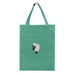 Sheep Trails Curly Minimalism Classic Tote Bag