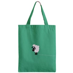 Sheep Trails Curly Minimalism Zipper Classic Tote Bag