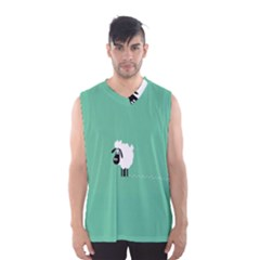 Sheep Trails Curly Minimalism Men s Basketball Tank Top