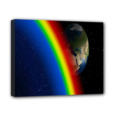 Rainbow Earth Outer Space Fantasy Carmen Image Canvas 10  x 8