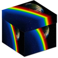 Rainbow Earth Outer Space Fantasy Carmen Image Storage Stool 12