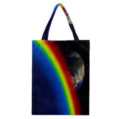 Rainbow Earth Outer Space Fantasy Carmen Image Classic Tote Bag